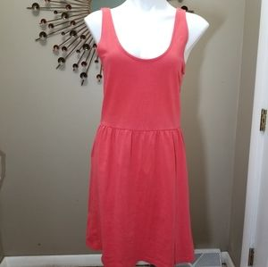 J Crew Coral Fit and Flare dress